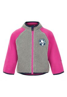 Color-Kids---Veste-polaire-pour-bébés---Colorblock---Gris/Rose