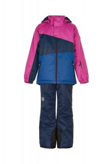Color-Kids---Combinaison-de-ski-pour-filles---Colorblock---Rose