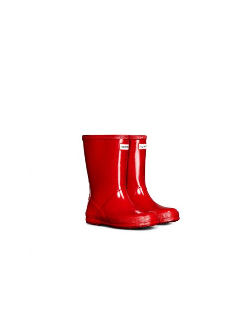 Hunter---Rainboots-for-children---Kids-First-Classic-Gloss---Military-Red